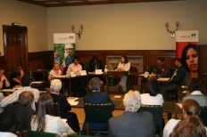 Chairing a Youth Panel in House of Commons, London