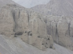 Caves in the Hindu Kush mountains