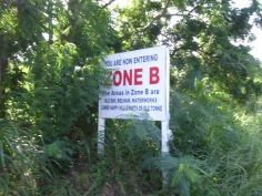 Zone B - Volcanic Exclusion Zones on Montserrat