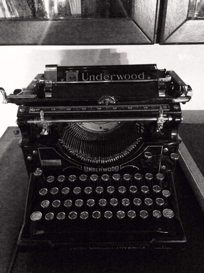 Old Underwood typewriter in house I'm writing in